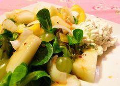 veggiecloud: Fruchtiger Salat mit Hüttenkäse