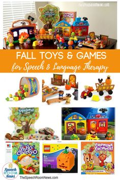 Fall Toys and Games for Speech and Language Therapy - Speech Room News
