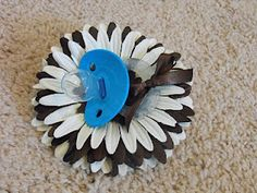 baby shower corsage - shows how to take apart and put it together.
