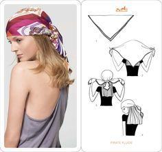 Mettre et nouer un foulard cheveux