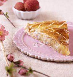 Galette des rois litchis rose - Recettes de cuisine Ôdélices