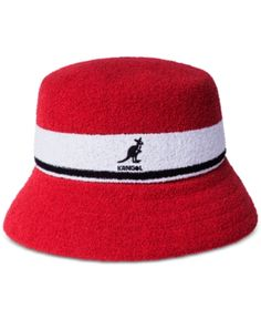 37cc1d84e59 Kangol Men s Striped Bucket Hat - Red S