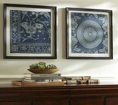 Framed Indigo Prints - these are from India, but I love anything that reminds me of Nepal :)