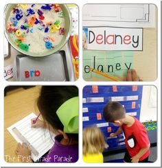 Name Activities (from The First Grade Parade)