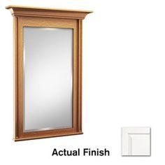 KraftMaid�Key Biscayne 36-in H x 36-in W Dove White Rectangular Bathroom Mirror