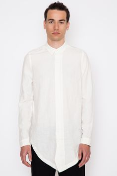 Chapter - White Linen Carm Shirt - Acrimony