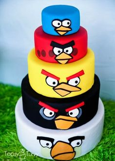 Tarta de Angry Birds