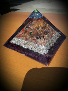 Orgonite pyramid Yellow Quartz, Birthday Candles, Beautiful