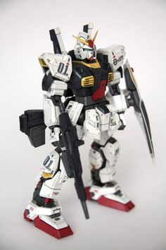 This gundam paper model is a RX-178 Gundam Mk-II, an upgrade over the famousRX-78-2 Gundam that served in the One Year War, appears in the anime series Mo