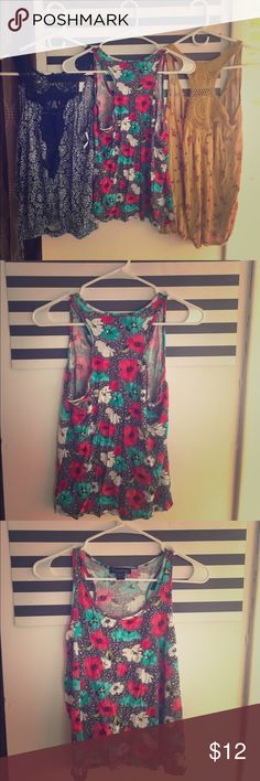 Flower Tank Top Perfect for summer! Flowing flower tank! Forever 21 Tops Tank Tops
