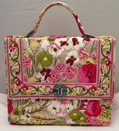 Vera Bradley Julia Bag, Handbag, Purse, Make Me Blush #VeraBradley #Handle