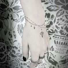 Image result for delicate bracelet tattoo