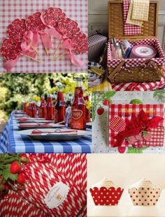 pic nic wedding in rosso