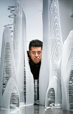 Architects Has Set Its Sights on the U. MAD founder Ma Yansong with an architectural model.MAD founder Ma Yansong with an architectural model. Chinese Architecture, Architecture Office, Architecture Portfolio, Concept Architecture, Futuristic Architecture, Amazing Architecture, Contemporary Architecture, Architecture Design, Office Buildings