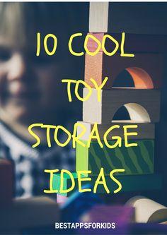 10 Cool Toy Storage Ideas. #toys #storage #ideas #organization #parentinghacks #tips Toy Storage, Storage Ideas, Getting Organized At Home, Toy Organization, Best Apps, Cool Toys, Parenting Hacks, Playroom, Education