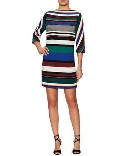 Striped Dolman Shift Dress by Badgley Mischka at Gilt
