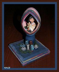 Goose Egg Diorama, Southwest Theme. Little Egg Girl $75