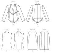 V1465 | Misses' Jacket, Skirt and Top |  Fall 2015  | Vogue Patterns