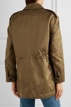 Burberry - Cotton-sateen Jacket - Army green - UK16