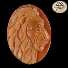 BI23113# Natural Hand Carved Lion animal Red Malachite Gemstone Pendant Bead #Handmade #Pendant