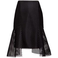 Shutter Skirt ($251) ❤ liked on Polyvore featuring skirts, transparent skirt, sheer panel skirt, panel skirt, sheer skirt and slimming skirts