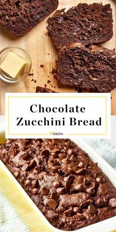 Home Made Doggy Foodstuff FAQ's And Ideas Recipe: Double Chocolate Zucchini Bread Dessert Recipes From The Kitchn Köstliche Desserts, Delicious Desserts, Dessert Recipes, Yummy Food, French Desserts, Plated Desserts, Zucchini Bread Recipes, Recipe Zucchini, Potato Recipes