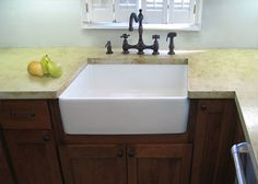 Concrete Countertop with apron sink... love this