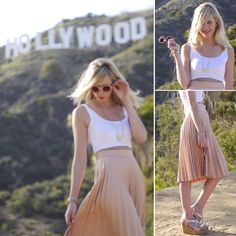 Mila Junge - Forever 21 Crop Top, Zara Skirt, Anthropologie Platforms - Sound of Beauty Style in Hollywood Hills