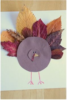 Leaf Paper Turkey Craft