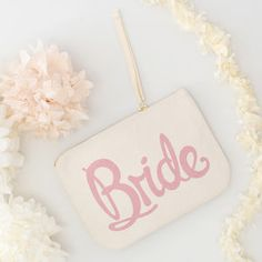 'Bride' Canvas Pouch - make-up bags