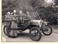 Image detail for -Black and White Picture of Old Car Colorized