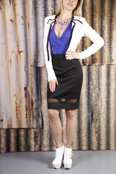 Suéter 650 pesos Blusa 249 pesos Falda 490 pesos