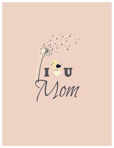 I love You Mom - fully editable Createer greeting card #card #flowers #design #design inspiration #createer #mother's day #mom