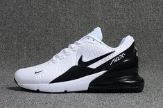 Mens Nike Air Max Flair 270 KPU White Black Boys Running Shoes - Sneakers Nike - Ideas of Sneakers Nike - Air Max Sneakers, Sneakers Mode, Sneakers Fashion, Fashion Shoes, Women's Shoes Sneakers, Latest Nike Sneakers, Sneakers Style, Fashion Rings, Fashion Dresses