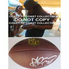 DeAngelo Williams , Pittsburgh Steelers, Carolina Panthers, Signed, Autographed, NFL Duke Football, a COA with the Proof Photo of DeAngelo Signing Will Be Included with the Football