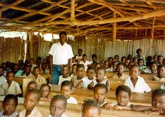 HW#4 Their classrooms are not too large or small, however, they hold many students because they do not have a lot of room for many schools. Some kids even share materials needed due to their poverty.