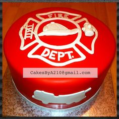 Firefighter Cake I made for my husband.