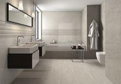 wall bathroom tile, Flooring store in Orlando, tiles in Winter Park… Modern Bathroom Cabinets, Grey Bathrooms, Bathroom Basin, Bathroom Floor Tiles, Master Bathroom, Elegant Bathroom Wallpaper, Couple Room, Design Exterior, Flooring Store