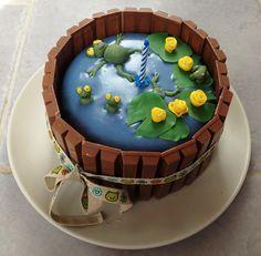 gateau grenouille - frog cake - kid cake - birthday cake