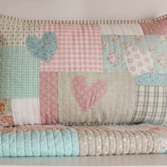 Set cot quilt with matching pillow slip peachy by roxycreations, $140.00