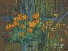 Painting - Summer Flowers by Donald Maier , Flower Artists, Black Eyed Susan, Summer Flowers, Fine Art America, Original Paintings, Instagram Images, Pastel, Design Inspiration, Wall Art