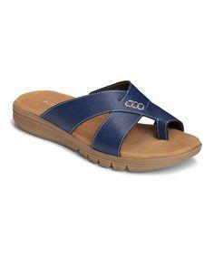 Loving this Dark Blue Adjustment Sandal on #zulily! #zulilyfinds