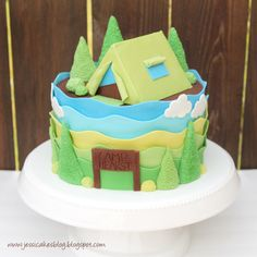 Camping Cake and Tutorial by Jessica Harris on her blog jessicakes.  September 20, 2009.