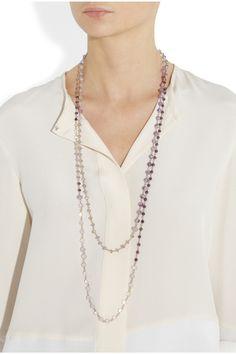 Rosantica|Rosarietto 24-karat gold-dipped amethyst necklace