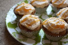 Pumpkin Cupcakes with Salted Caramel Buttercream from Two Coast Table