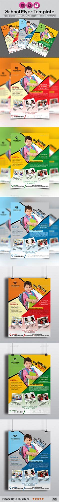 school flyer design template flyers design print template vector