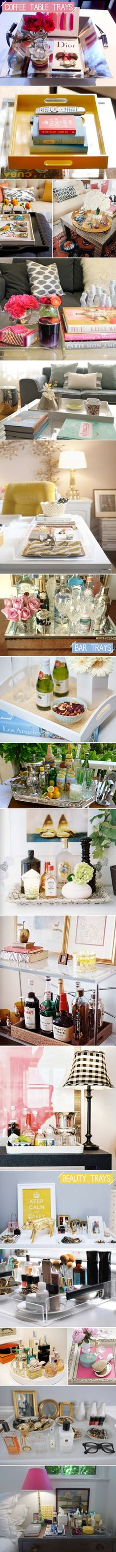 trays Love this idea! Interior Design with Paisley Pattern! Home Design Ideas, Pictures, Remodel and Decor on imgfave Interior Design with P. Coffee Table Design, Coffee Table Styling, Coffee Table Tray, Bar Tray, Do It Yourself Furniture, Do It Yourself Home, Tray Styling, Home Design, Interior Design
