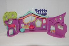 Littlest Pet Shop LPS Purple Treehouse Clubhouse Playset Foldable Retired 2007 #Hasbro