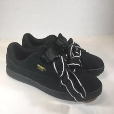 a8da049e430 Puma Shoes | Puma Suede Heart Satin Ii Womens 10.5 New | Color: Black |  Size: 10.5