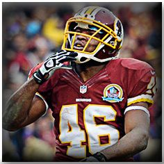 Needing just 82 rushing yards to break Reggie Brooks franchise rookie record of 1,063 yards, RB Alfred Morris racked up 124 yards en route to a 17-16 Monday Night victory over the rival New York Giants